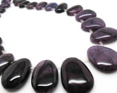 Sugilite Beads, Sugilite Briolettes, Luxe AAA, Freefrom Cabochon Drops, SKU 4374A