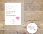 Bridal Shower Invitations . Flower Bridal Shower Invitations . Bridal Shower Invites . Outdoor Bridal Shower - He loves me...