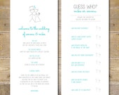 Wedding Programs, Ceremony Program, Games, Casual Program, Order of Service, Stick Figures - Guess Who