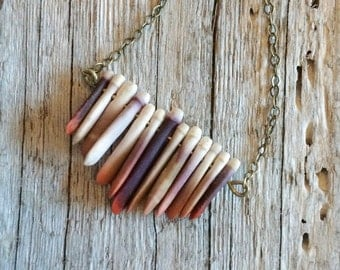 The Tarrin Necklace: Sea Urchin Spine Necklace, Beach Necklace