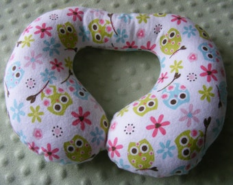 Toddler Travel Pillow, Girly Owls