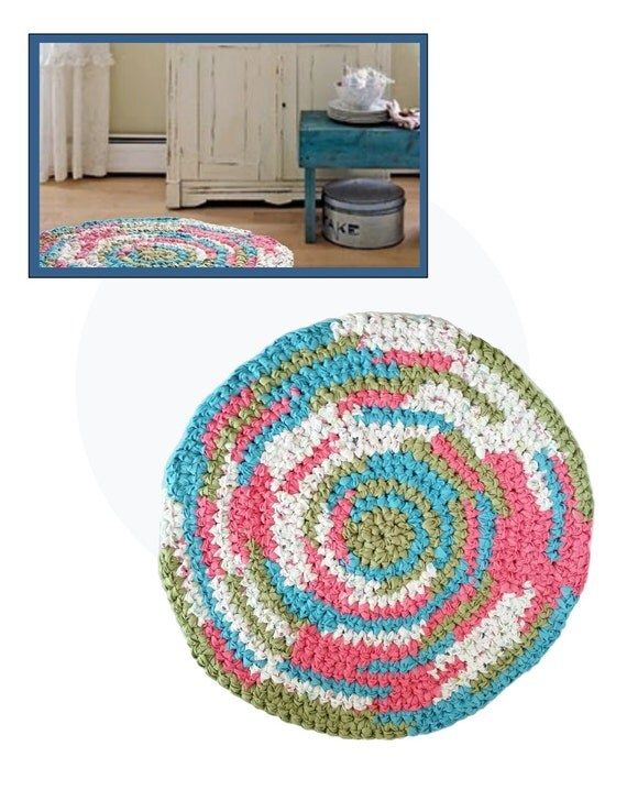 Country Area Rug Handmade Washable Cotton Rag Rug Fabric