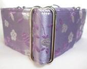 Lavender Floral Silk Greyhound Martingale Collar