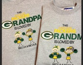 Green Bay Packers Grandma Grandpa  sweatshirt custom embroidery