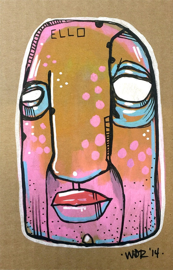 Ello - Original Illustration on Cardboard