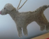 Felt Dog Christmas Ornament