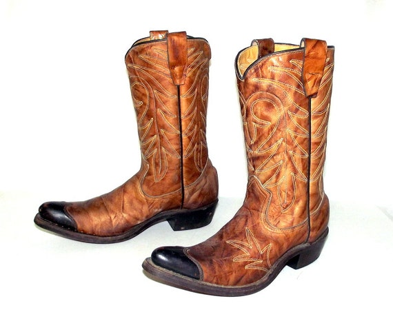 Excellent Vintage Cowboy Boots By Texas Boots Company In By NashDryGoods