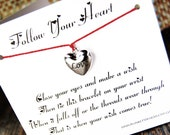 Follow Your Heart - Wish Bracelet - (Love) - Shown In The Color RED  - Over 100 Different Colors Are Also Available