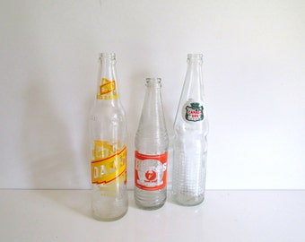 Collection of Vintage Soda Bottles Hires Dad's Canada Dry Three Bottles