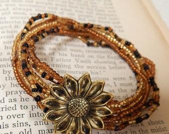 Boho Stretch Bracelets, Hippie Bracelets, Stretch Beaded Bracelets, Flower Bracelets, Stretch Bracelets, Bracelet Set, Seed Bead Bracelets