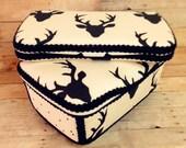 Deer antler ivory deer black baby wipes case diaper bag accessory nursery wipes case nursery baby decor Set of 2 antler baby box
