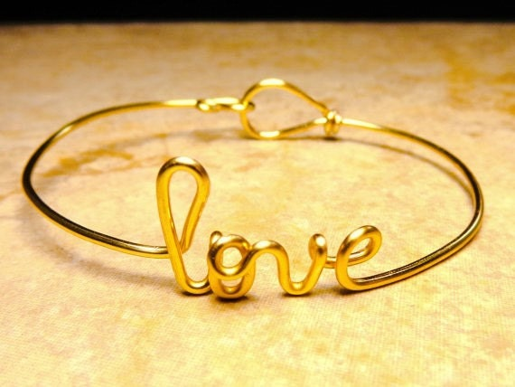 Name bracelet, Name, Mom, Grandma, love bracelet, bridesmaid gift,