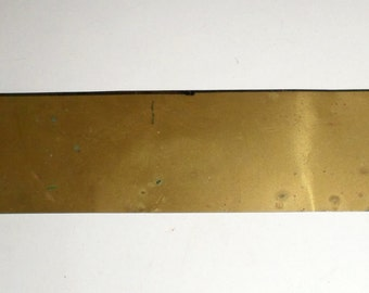 Vintage Brass Sheeting - Thin Brass Strip - Craft Supply - Brass For Crafting