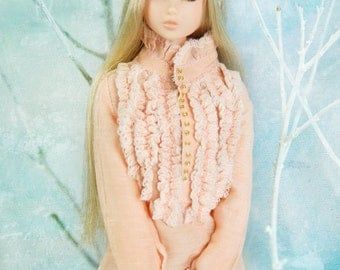 jiajiadoll- pink laced shirts fit momoko or misaki or blythe or azone