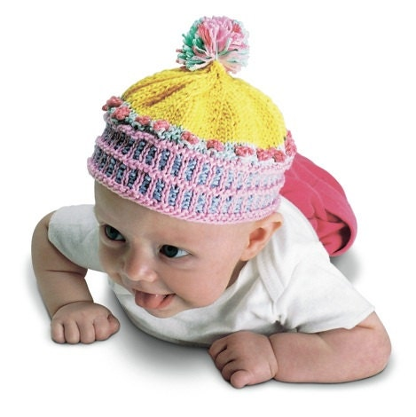 Newborn Beanie Knitting Pattern : Cupcake Beanie Knitting PDF Pattern Only/ Download Newborn to