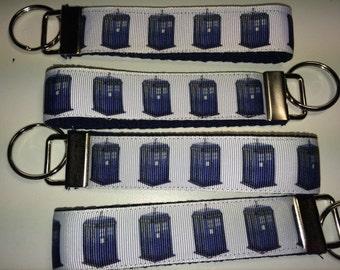 Space Time Box Fan Art Key Fob Keyring