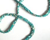 Trim, braid, braid trim, green, emerald, gold, white, trims, fabric trim, ribbon, card decoration, 1 yard, 90 cm, 3/8 inch wide, 1 cm