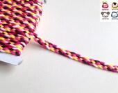 Trim, braid, braid trim, pink, brown, yellow, trims, fabric trim, ribbon, card decoration, iammie, 1 yard, 90 cm, 3/8 inch wide, 1 cm