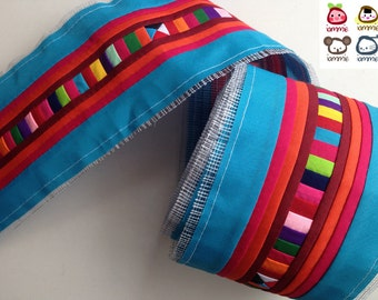 Hmong fabric, Blue, light blue, Hmong Textile, Lisu Textile, quilt, fabric, Thai hill tribe, Hmong, Lisu fabric, Sewn, Crafting, textile