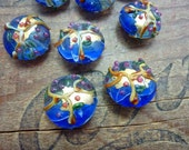 Vintage Hong Kong Glass Decorative Foil Beads (4)