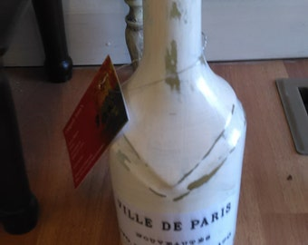 painted bottle shabby chic