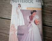 Butterick Misses Wedding Dress and Petticoat Pattern 5991 size 8 10 12