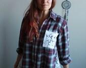 Red Black White Flannel P...