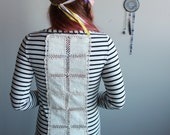 Upcycled Striped Black an...