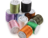 10 Rolls Mixed Color Round Nylon Satin Rattail Cord 3mm 4m   N932