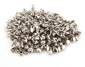 100 Silver Tone Metal Cone Spike Studs Rivets 4x5mm for Handbag Leather Bracelet   L849