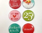 Very Merry Flair Badges : Christmas Set A
