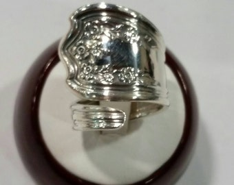 Sterling Silver Spoon Ring Blossom