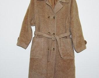 SALE>>>>>>Vintage Coat English Lama Blanket Trench Style