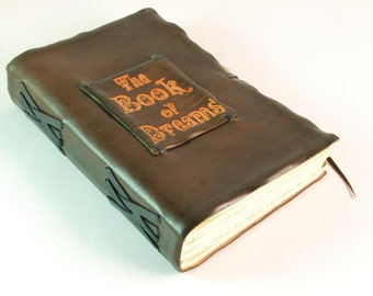 Leather Diary, Journal, Book of Dreams, brown color, supernatural