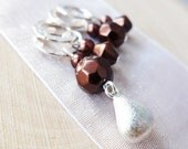 LAST SETS - A Kiss Is Just A Kiss - Four Handmade Stitch Markers - Fits Up To 6.5 mm (10.5 US) - Limited Edition