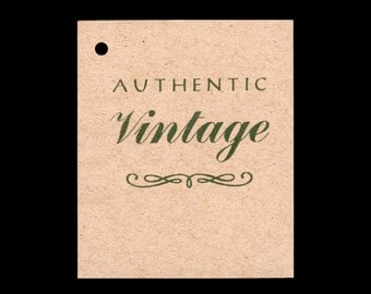 100 AUTHENTIC VINTAGE Hang Tags -100 Color Strings Included -  Price Tags