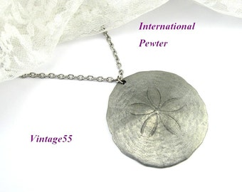 Necklace Sand Dollar International Pewter