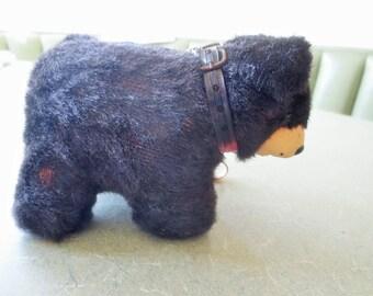 Vintage Toy Dog - Bear, Made in Japan, Brown Bear, Dog on Leash, Leash Bear, Brown Fake Fur, Cute Kawaii Zakka, Brown Dog, Dog on Leash