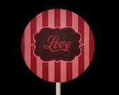 RETRO LOVE GraphicStock.com *Exclusive* Chocolate Pops Oreos Love Valentine