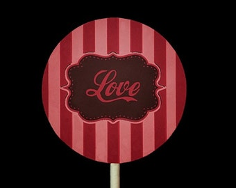 RETRO LOVE GraphicStock.com *Exclusive* Chocolate Pops Oreos Love Valentine
