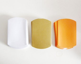 Destash Sale - 30 Pillow Boxes in 3 Colors