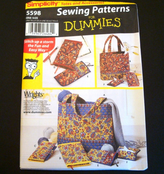 Quilted Book Cover Pattern : Sewing for dummies quilted accessories pattern