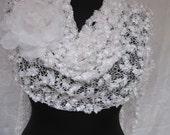 wedding  shawl and organze flower