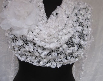 wedding  shawl and organze flower