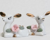 Set of Two Porcelain Deer Figurines