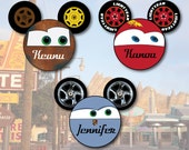 Cars Mouse Head Disney Cruise Cabin Door Magnet - McQueen Mater and Miss Sally Carrerra