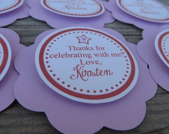 American Girl Birthday Decorations, Girl Birthday Decorations, American Girl Birthday FAVOR TAGS, You Choose The Colors