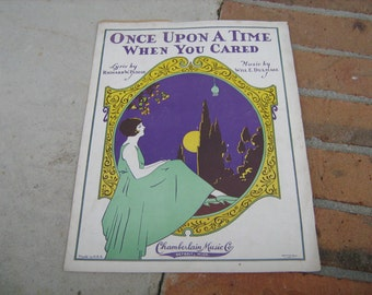 1928 sheet music (  once upon a time when you cared  )