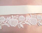 """Ivory Belt Bridal Wedding Sash 24"""" Extra Long Sashes Bridal Trim"""