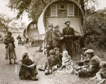 Gypsy Wagon 2 Vintage Image Photo.  Digital Download